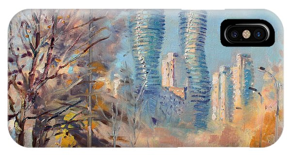 Downtown iPhone Case - Morning Sunlight In Mississauga by Ylli Haruni