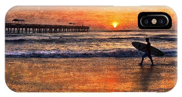 Boynton iPhone Case - Morning Surf by Debra and Dave Vanderlaan