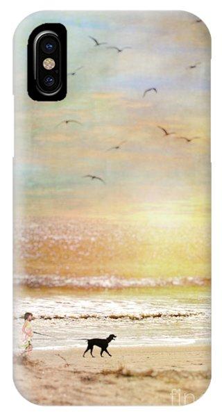 Morning Walk On The Beach IPhone Case
