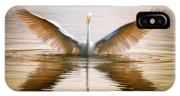 Morning Wings An Egret Awakes IPhone Case