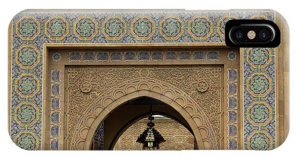 Morocco, Rabat Ornate Gate Of Royal IPhone Case