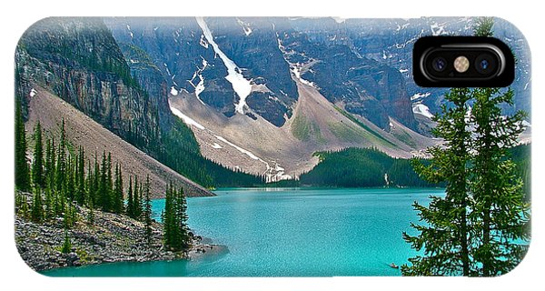 Morraine Lake In Banff Np-alberta IPhone Case