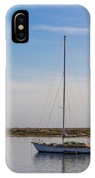 Sailboat At Anchor In Morro Bay IPhone Case