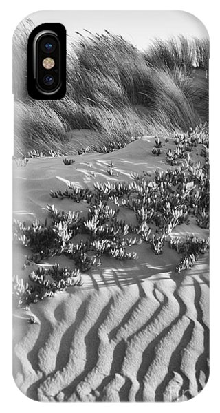 Morro Beach Textures Bw IPhone Case
