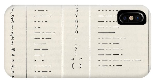 Morse Code System IPhone Case