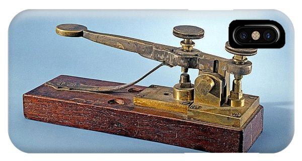Morse-vail Telegraph Key, 1844 IPhone Case