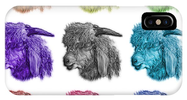 Mosaic Angora Goat - 0073 F - M - Wb IPhone Case