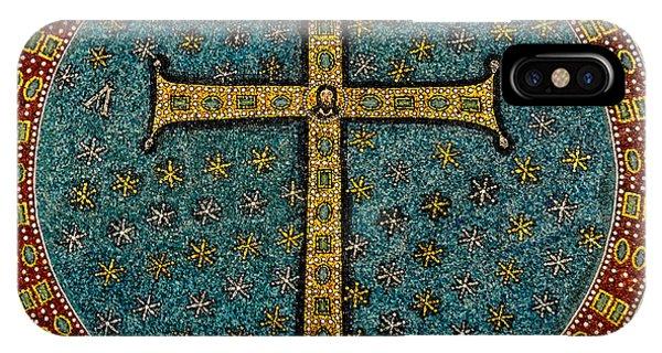 Mosaic Cross Ravenna I IPhone Case