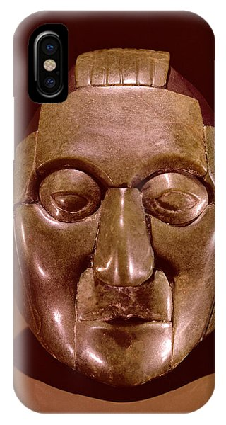 Maya iPhone Case - Mosaic Mask Representing An Old Man, From The Ruz Tomb Under The Temple Of The Inscriptions by Mayan