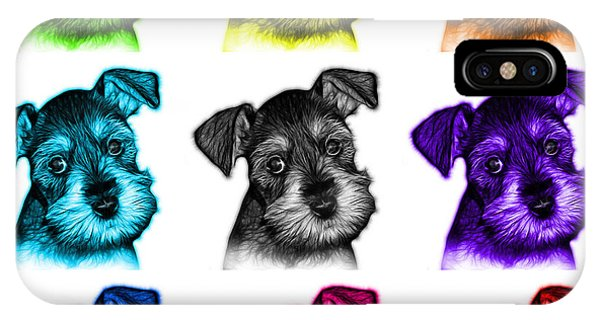 Mosaic Salt And Pepper Schnauzer Puppy 7206 F - Wb IPhone Case