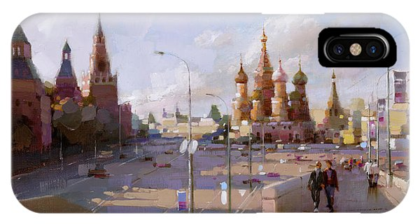 Moscow. Vasilevsky Descent. Views Of Red Square. IPhone Case