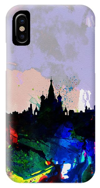 Moscow Watercolor Skyline IPhone Case