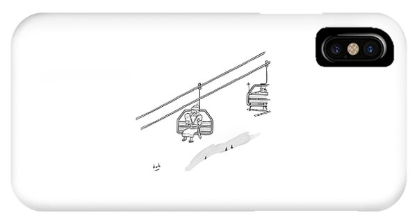 Moses Travels Down A Mountain On A Ski-lift IPhone Case