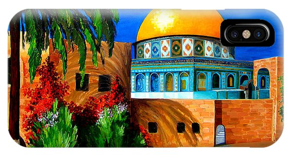 Mosque - Dome Of The Rock IPhone Case