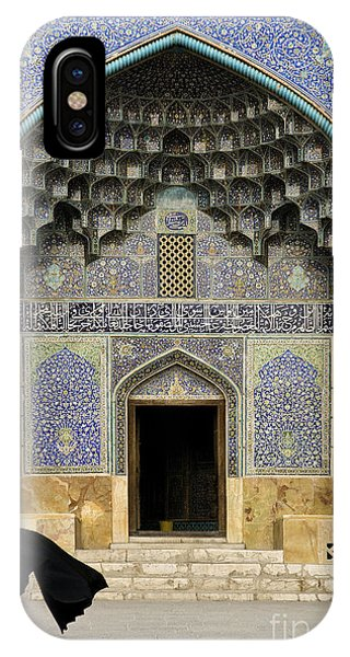 Mosque Door In Isfahan Esfahan Iran IPhone Case
