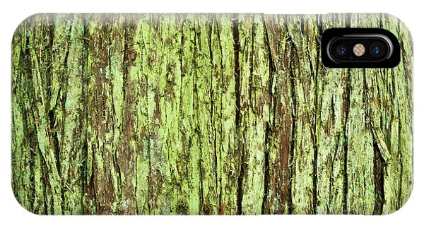 Moss On Tree Bark IPhone Case