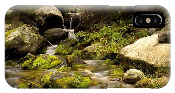 Mossy Falls 1 IPhone Case