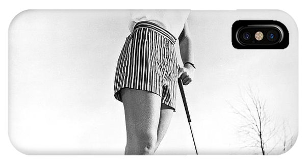 1958 iPhone Case - Most Beautiful Golfer Of 1957 by Underwood Archives