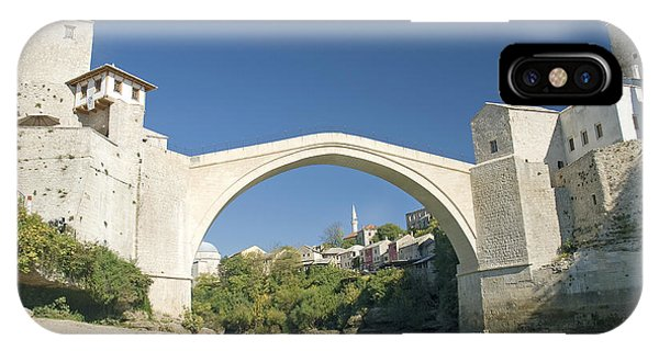 Mostar Bridge In Bosnia IPhone Case