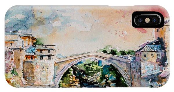 Mostar iPhone Case - Mostar Bridge by Kovacs Anna Brigitta