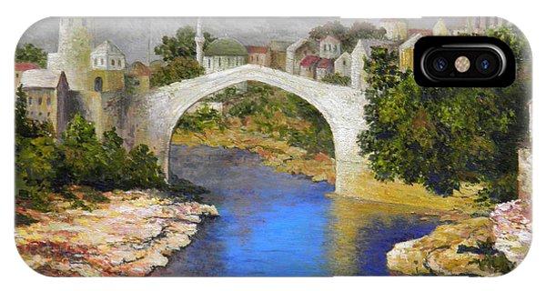 Mostar iPhone Case - Mostar Bridge by Lou Ann Bagnall