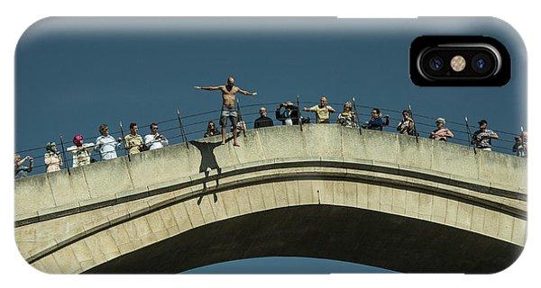 Mostar iPhone Case - Mostar Jumper  by Rob Hawkins