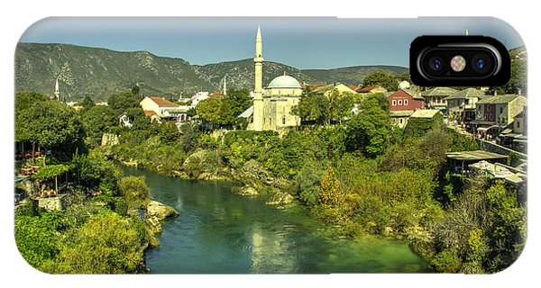 Mostar iPhone Case - Mostar River And Mosque  by Rob Hawkins