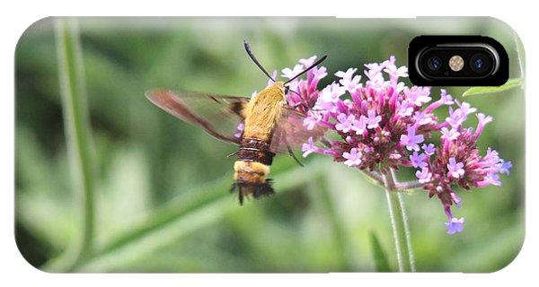 Moth On Flowers Phone Case by Jill Bell