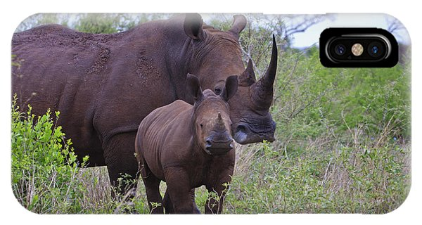 Mother And Baby Rhino IPhone Case