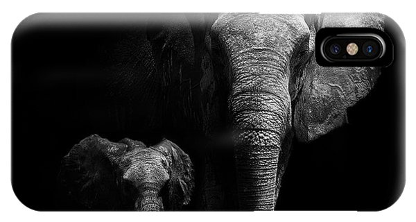 Cute iPhone Case - Mother And Child by Wildphotoart