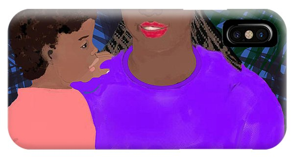 iPhone Case - Mother And Daughter by Pharris Art