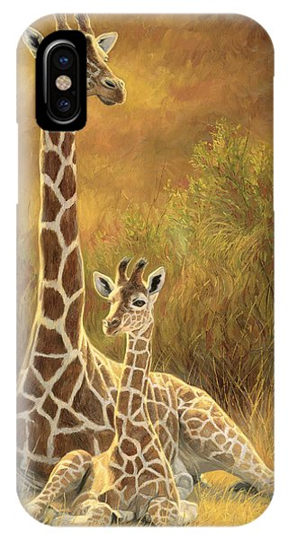 Africa iPhone X Case - Mother And Son by Lucie Bilodeau