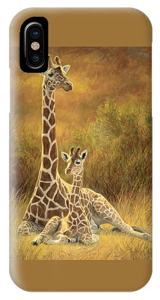 Cow iPhone X / XS Case - Mother And Son by Lucie Bilodeau