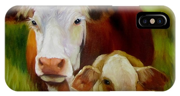 Mother Cow And Baby Calf IPhone Case