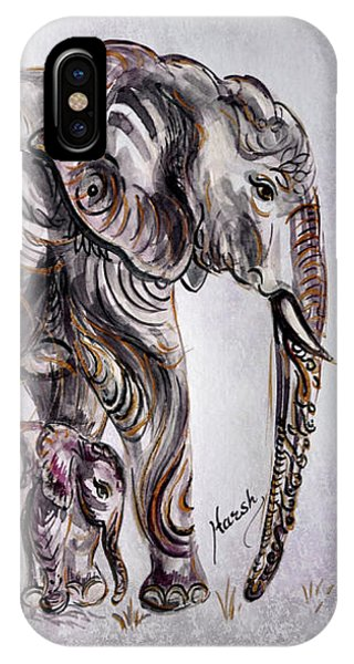Mother Elephant IPhone Case