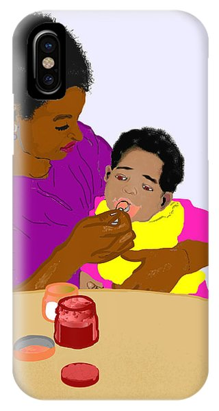 iPhone Case - Mother Feeding Her Baby by Pharris Art