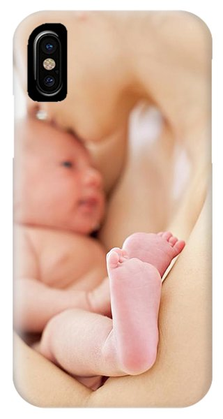 0 iPhone Case - Mother Holding Newborn Baby Boy by Ian Hooton/science Photo Library