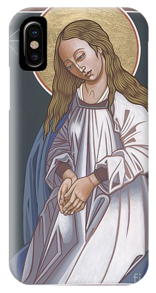 Mary Mother Of God iPhone Case - Mother Of God Waiting In Adoration 248 by William Hart McNichols