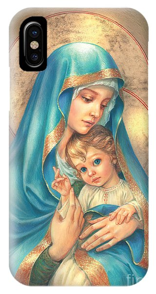 Mary Mother Of God iPhone Case - Mother Of God by MGL Meiklejohn Graphics Licensing