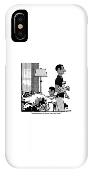 Mother On Sofa IPhone Case