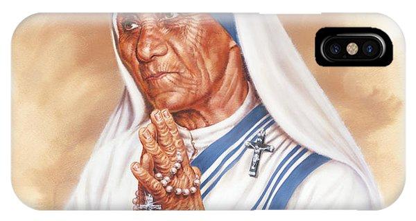 Nobel iPhone Case - Mother Teresa by Dick Bobnick