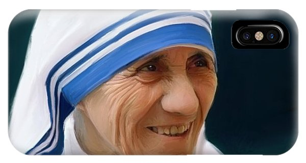 Digital iPhone Case - Mother Teresa by Paul Tagliamonte