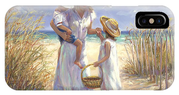 Seagull iPhone Case - Mothers Day Beach by Laurie Snow Hein