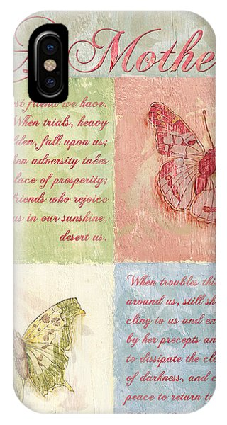 Poetry iPhone Case - Mother's Day Butterfly Card by Debbie DeWitt