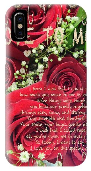 Mothers Day Card Phone Case by Debra     Vatalaro