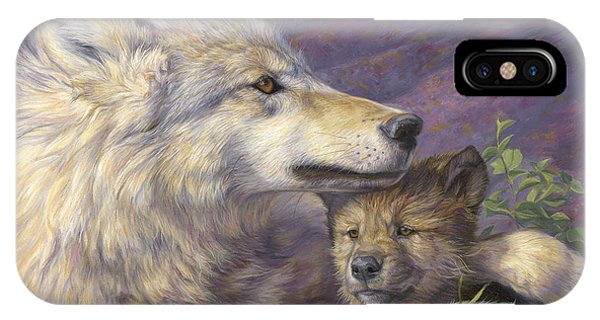 Gray iPhone Case - Mother's Love by Lucie Bilodeau