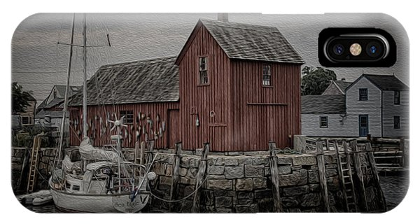 New England Barn iPhone Case - Motif 1 - Painterly by Stephen Stookey