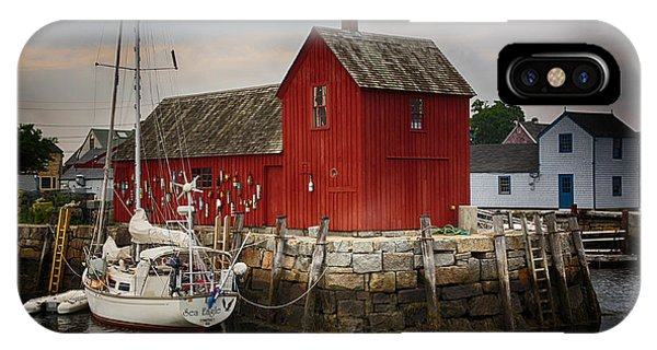 New England Barn iPhone Case - Motif 1 - Rockport Harbor by Stephen Stookey