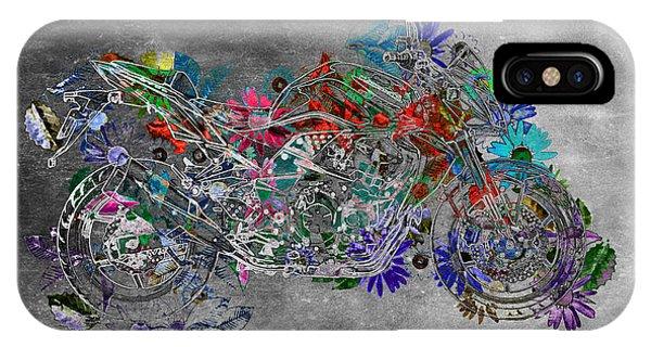 Moto Art  Floral Sp01bb IPhone Case