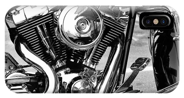 Motorcycle Engine Black And White IPhone Case
